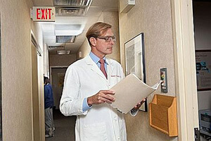 Allentown Ophthalmologist Dr. Bausch in the office